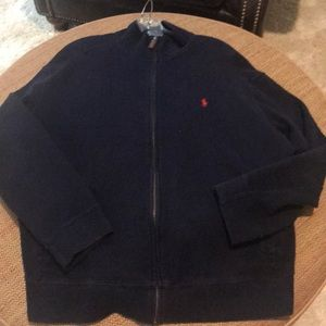 Men's zip polo brand sweater in like new condition